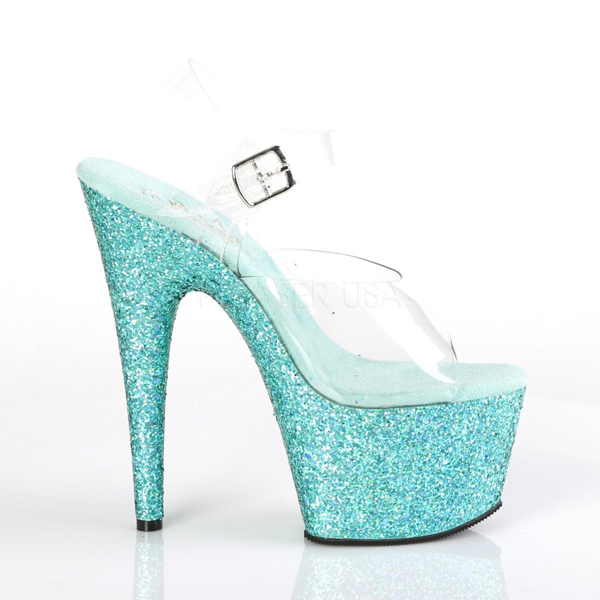 detailed look 6b04a e9f6b Turchese scintillare 18 cm Pleaser ADORE-708LG scarpe con tacchi da pole  dance
