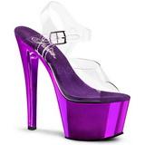 Violet Transparent 18 cm SKY-308 High Heels Platform