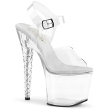 Acrylic 18 cm Pleaser UNICORN-708 Platform High Heels Shoes