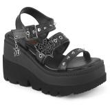 Argento 11,5 cm CELESTE-09 sandali con tacco largo e plateau glitter