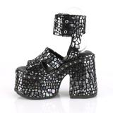 Argento 12,5 cm Demonia CAMEL-102 sandali con plateau lolita