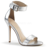 Argento 13 cm Pleaser AMUSE-10 sandali tacchi a spillo