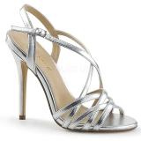 Argento 13 cm Pleaser AMUSE-13 sandali tacchi a spillo