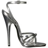 Argento 15 cm Devious DOMINA-108 sandali tacchi a spillo