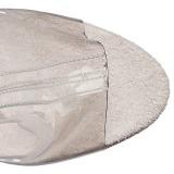 Argento 18 cm ADORE-1017SRS stivaletti con frange donna tacco alto