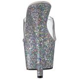 Argento 18 cm ADORE-701LG scintillare plateau ciabatta donna con tacco