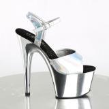 Argento 18 cm ADORE-709HGCH Ologramma plateau sandali donna con tacco