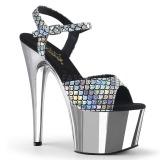 Argento 18 cm ADORE-709MSC Ologramma plateau sandali donna con tacco