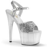 Argento 18 cm ADORE-710GT scintillare plateau sandali donna con tacco