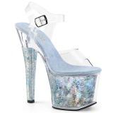 Argento 18 cm RADIANT-708THG Ologramma plateau sandali donna con tacco
