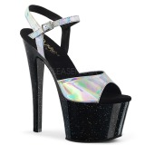 Argento 18 cm SKY-309HG Ologramma plateau sandali donna con tacco