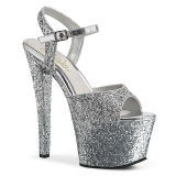 Argento 18 cm SKY-310LG scintillare plateau sandali donna con tacco