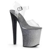 Argento 20 cm XTREME-808OMBRE scintillare plateau sandali donna con tacco