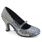 Argento 7,5 cm MERMAID-70 scarpe décolleté con tacchi bassi