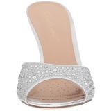Argento 8,5 cm LUCY-01 scintillare basso ciabatta donna con tacco