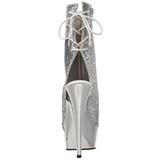 Argento Brillare 15 cm Pleaser DELIGHT-1018G Plateau Stivaletti Donna