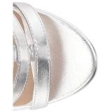 Argento Ecopelle 10 cm DREAM-438 grandi taglie stivaletti donna