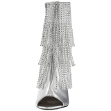 Argento Ecopelle 10 cm QUEEN-100 grandi taglie stivaletti donna
