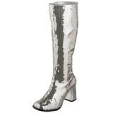 Argento Lustrini 8 cm SPECTACUL-300SQ Stivali Donna