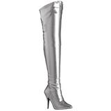 Argento Matto 13 cm SEDUCE-3000 stivali alti numeri grandi da uomo