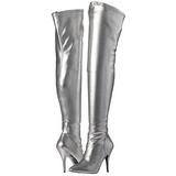 Argento Matto 13 cm SEDUCE-3000 stivali overknee tacco alto