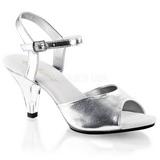 Argento Matto 8 cm BELLE-309 Sandali donna con tacco alto