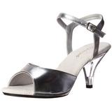 Argento Matto 8 cm BELLE-309 scarpe tacco alto numeri grandi per uomo