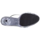Argento Raso 13 cm LIP-156 Sandali Donna con Tacco