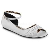 Argento Raso ANNA-03 grandi taglie scarpe ballerine
