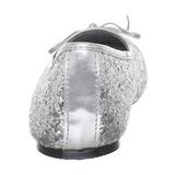 Argento STAR-16G scintillare scarpe ballerine donna basse