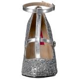 Argento Scintillare 10 cm QUEEN-01 grandi taglie scarpe décolleté