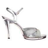 Argento Scintillare 12 cm FLAIR-419G scarpe tacco alto numeri grandi per uomo