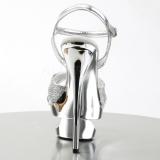 Argento Scintillare 16,5 cm Pleaser ECLIPSE-619G Scarpa Stiletto Alto