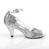 Argento Scintillare 7,5 cm BELLE-381G scarpe décolleté spuntate tacco altissime
