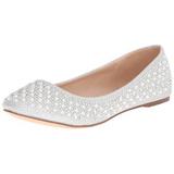 Argento TREAT-06 pietra cristallo scarpe ballerine donna