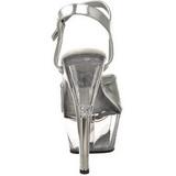 Argento Trasparente 15 cm Pleaser KISS-209 Tacchi a spillo