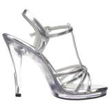 Argento Vernice 12 cm FLAIR-420 Sandali Donna con Tacco