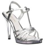 Argento Vernice 12 cm FLAIR-420 scarpe tacco alto numeri grandi per uomo