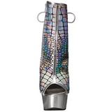Argento Vernice 15 cm DELIGHT-1018HG stivaletti con plateau suola donna