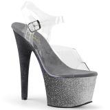 Argento scintillare 18 cm Pleaser ADORE-708OMBRE scarpe con tacchi da pole dance