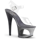 Argento scintillare 18 cm Pleaser MOON-708OMBRE scarpe con tacchi da pole dance