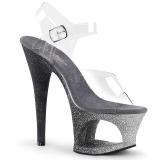 Argento scintillare 18 cm Pleaser MOON-708OMBRE scarpe da cubista e spogliarellista