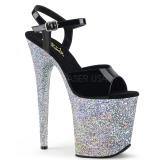 Argento scintillare 20 cm Pleaser FLAMINGO-809LG scarpe da cubista e spogliarellista