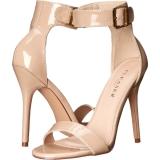 Beige 13 cm AMUSE-10 transvestite shoes