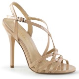 Beige 13 cm Pleaser AMUSE-13 sandali tacchi a spillo