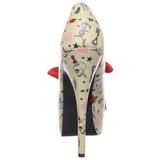 Beige 14,5 cm TEEZE-12-3 Scarpe da donna con tacco altissime