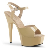 ffabd003919 Beige 15 cm DELIGHT-609 platform pleaser high heels shoes