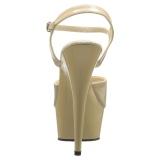 Beige 15 cm DELIGHT-609 tacco alto pleaser con plateau