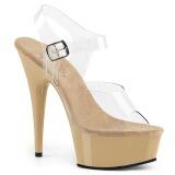 Beige 15 cm Pleaser DELIGHT-608 scarpe da cubista e spogliarellista