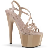Beige 18 cm ADORE-713 pleaser stiletto heel sandals